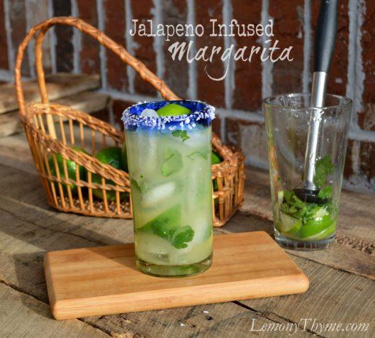 Jalapeno Infused Margarita from Lemony Thyme