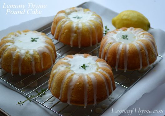 Lemony Thyme Pound Cake with Lemon Glaze from Lemony Thyme