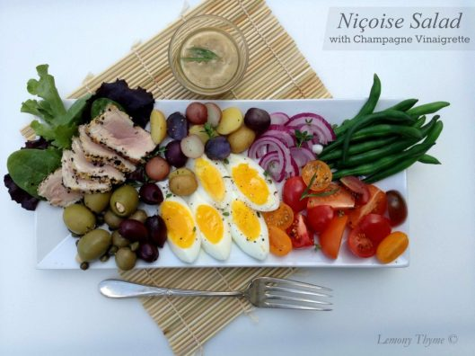 Nicoise Salad with Champagne Vinaigrette from Lemony Thyme