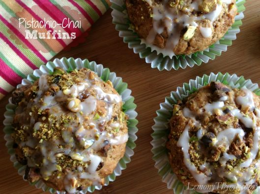 Pistachio Chai Muffins from Lemony Thyme
