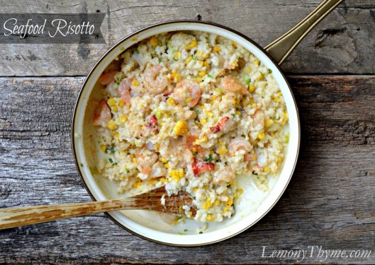 Seafood Risotto from Lemony Thyme