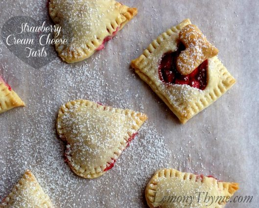 Strawberry Cream Cheese Tarts from Lemony Thyme