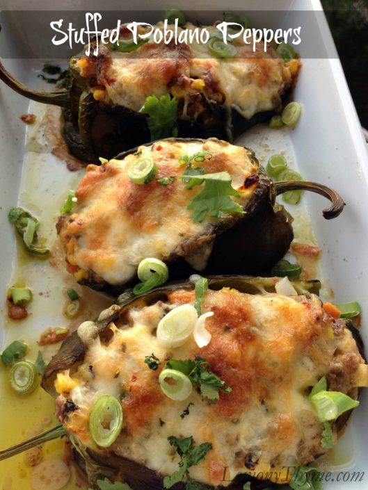 Stuffed Poblano Peppers from Lemony Thyme