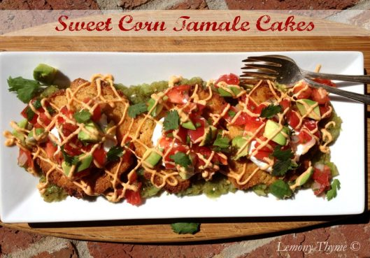 Sweet Corn Tamale Cakes from Lemony Thyme