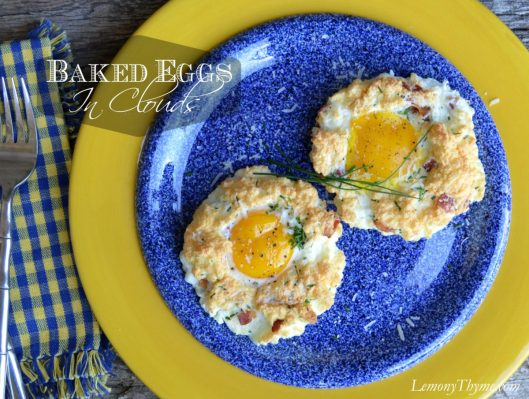 Baked Eggs in Clouds from Lemony Thyme