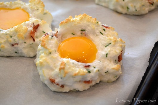 Baked Eggs in Clouds with yolks