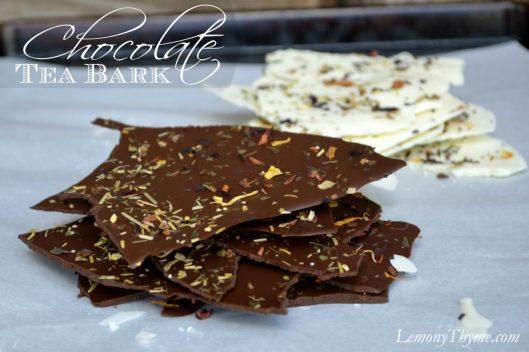 Chocolate Tea Bark from Lemony Thyme