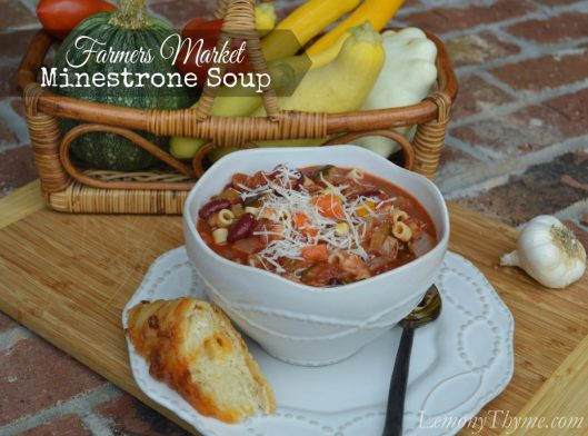 Farmers Market Minestrone Soup from Lemony Thyme