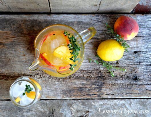 Lemony Thyme Peach Lemonade3