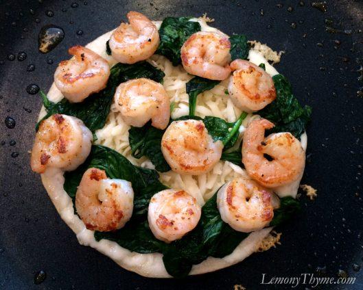 Spicy Shrimp & Spinach Quesadilla4