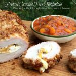 Pretzel Crusted Stuffed Pork Tenderloin