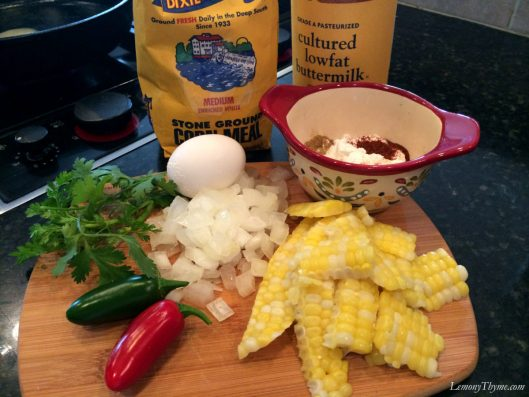 Southwest Corn & Jalepno Fritters Ingredients