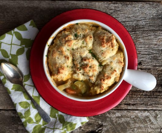 Roasted Veggie Pot Pie with Herbed Biscuit Crust3