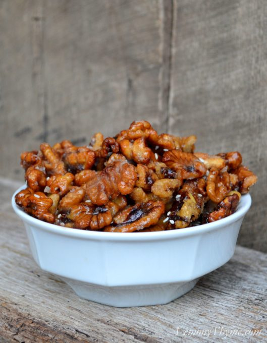 Sweet & Sticky Sesame Walnuts1