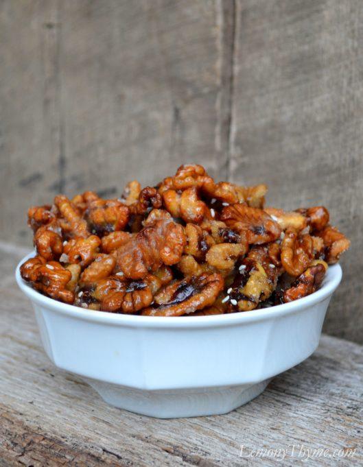Sweet & Sticky Sesame Walnuts1