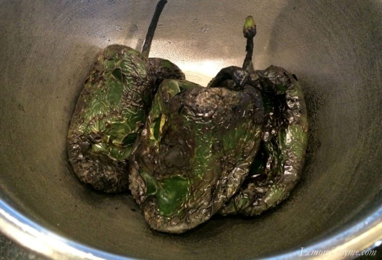 Flame Roasted Poblano Peppers