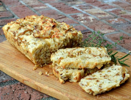 Parmesan & Herb Quick Bread with Caramelized Onions1