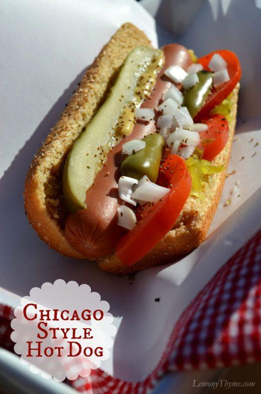 Chicago Style Hot Dog | LemonyThyme.com