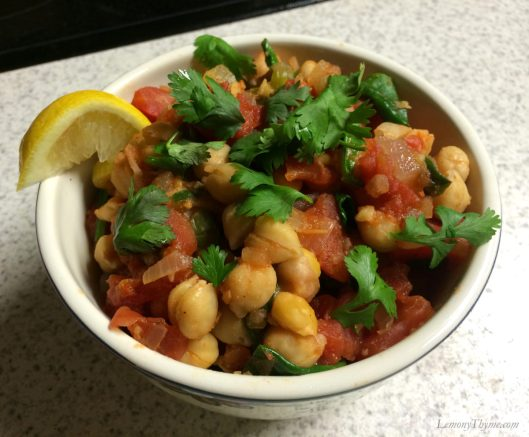 Chickpea and Spinach Stew1