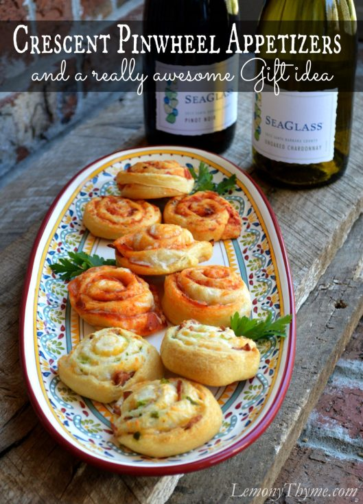 Crescent Roll Pinwheel Appetizers and a really awesome Gift idea