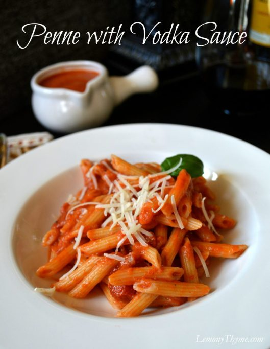 Penne with Vodka Sauce from LemonyThyme.com