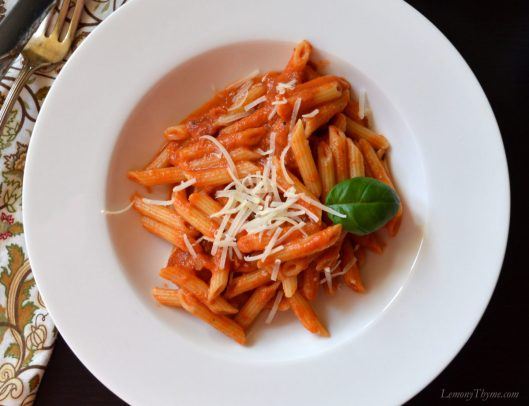 Penne with Vodka Sauce1