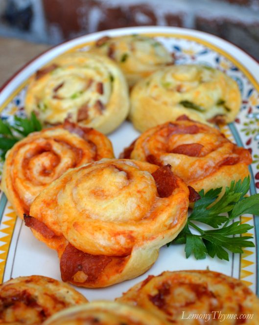 Pepperoni Pizza Crescent Pinwheels