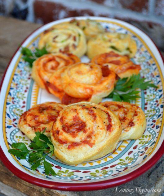 Roasted Tomato & Garlic Crescent Pinwheels