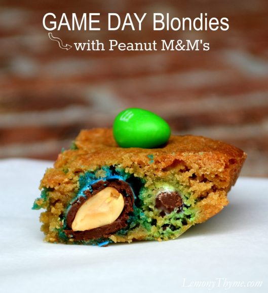 Game Day Blondies with Peanut M&Ms