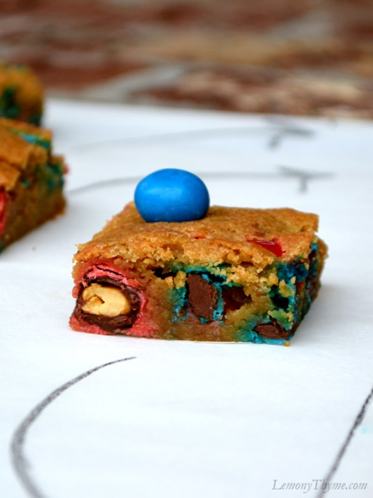 Game Day Blondies with Peanut M&Ms3