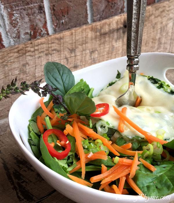 Thai Basil Egg White Omelet Bowl8