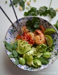 Thai Spicy Shrimp Buddha Bowl