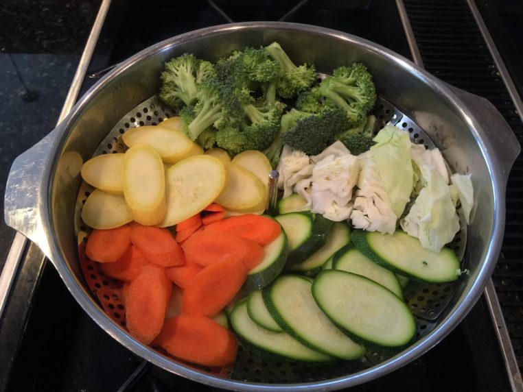 Sauteed Veggies for Ramen Broth Bowls.