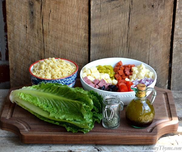 Chopped Italian Submarine Salad Ingredients