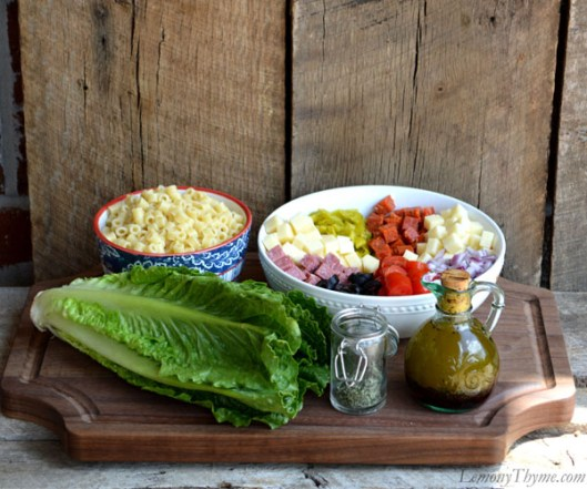 Chopped Italian Submarine Salad Ingredients