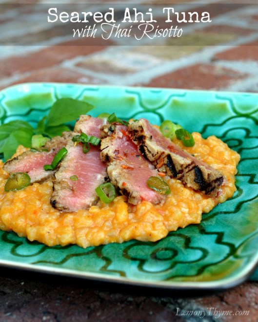 Seared Ahi Tuna on Thai Risotto3