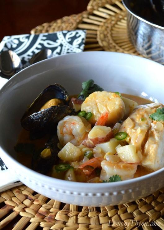 Thai Seafood Chowder | LemonyThyme.com