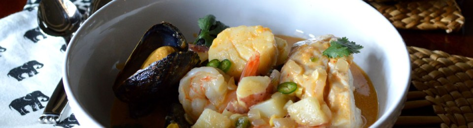 Thai Seafood Chowder with Mussels, Shrimp & White Fish