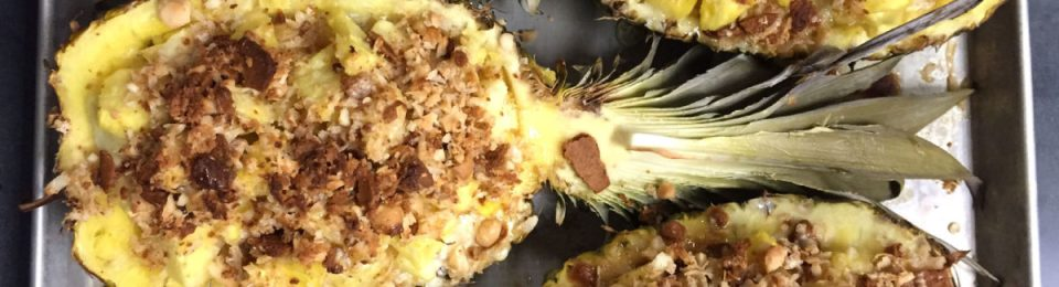 Piña Colada Baked Pineapple