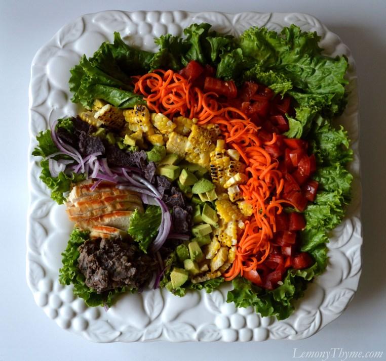 Rainbow Southwest Salad