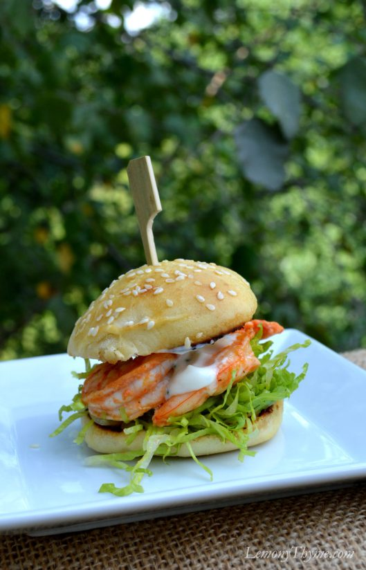 Buffalo Shrimp Slider with Cool Ranch Sauce1