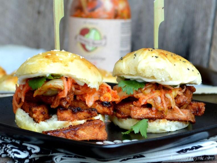 Korean Pork & Kimchi Sliders