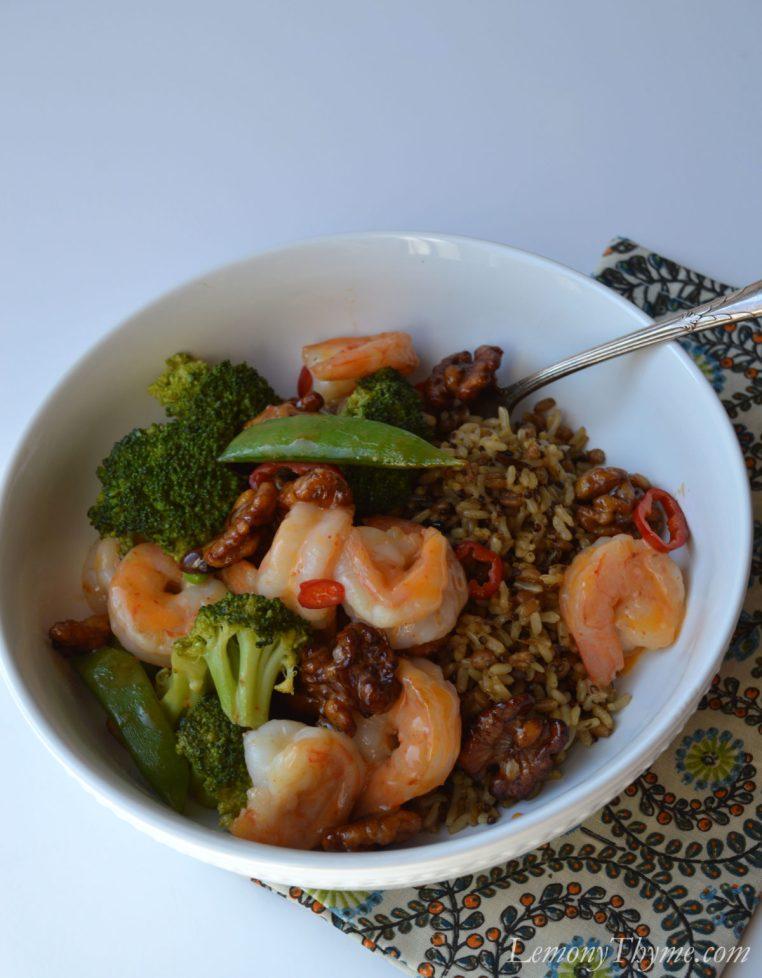 Honey Walnut Shrimp Power Bowl1