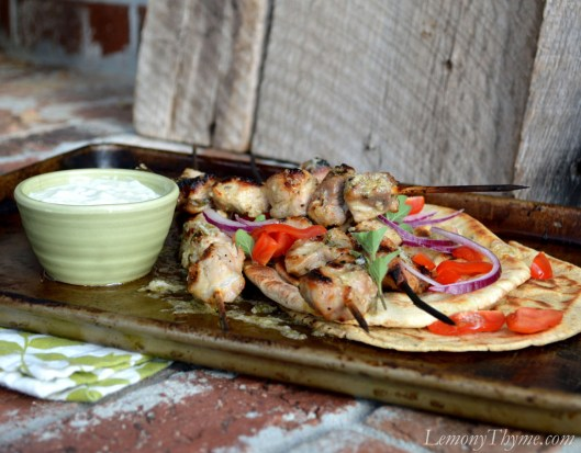 Pork Souvlaki with Tzatziki Sauce5
