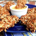 Pretzel Crusted Chicken Strips | LemonyThyme.com
