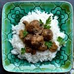Salisbury Steak Meatballs with Mushroom Gravy1