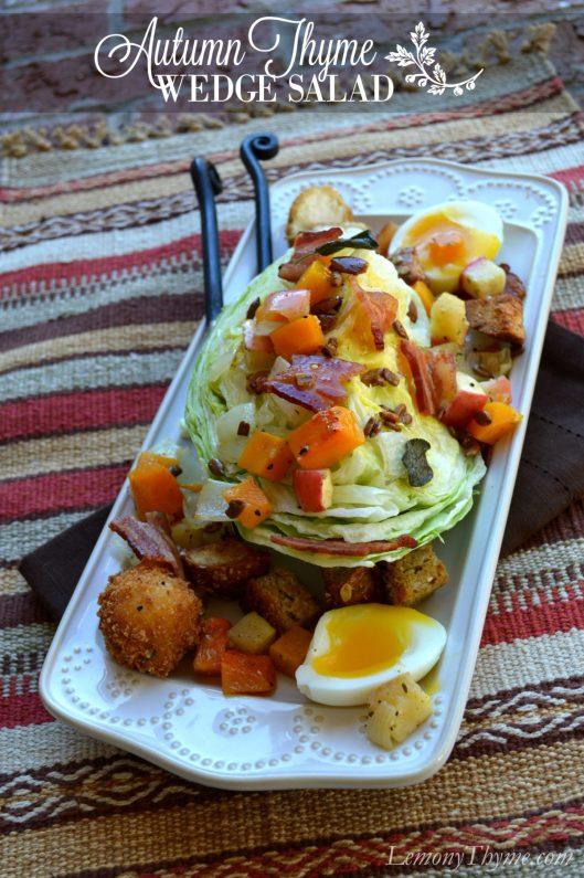 Autumn Thyme Wedge Salad | LemonyThyme.com