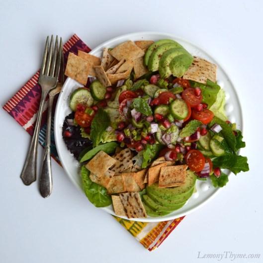 Fattoush Salad | LemonyThyme.com