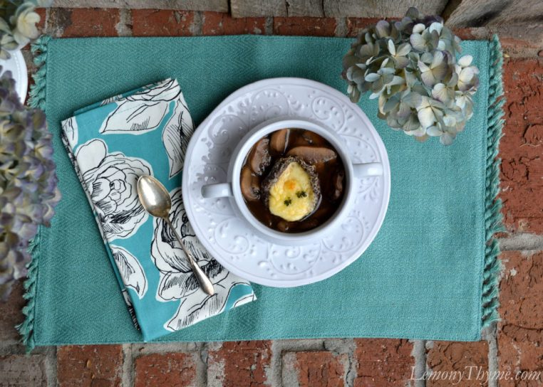 Mushroom Soup with Cheesy Portobella Crouton6