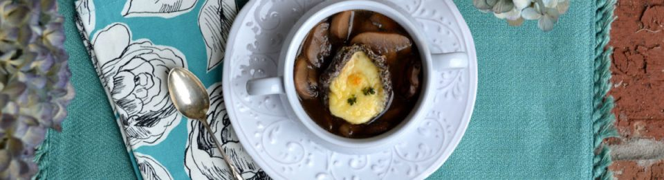 Mushroom Soup with Cheesy Portobella Crouton6